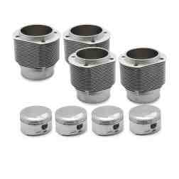 Porsche 356 912 86mm Nickies inc. ~9.5:1 JE Piston set. 57.5-60.5cc chambers