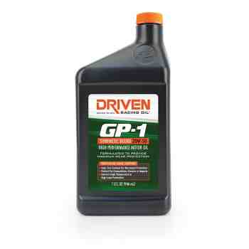 Joe Gibbs Racing Driven GP-1 Semi-Synthetic 20w50 Motor Oil (Case of 12 Quarts) 19506
