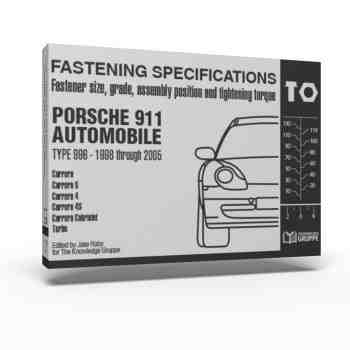 """996 Torque Book"" – Fastening Specifications for Porsche 911 (Type 996) Automobile"