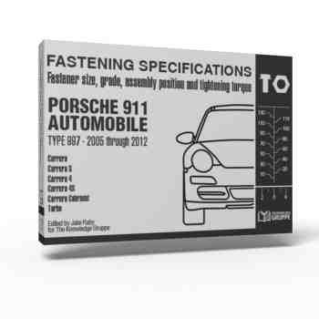 """997 Torque Book"" – Fastening Specifications for Porsche 911 (Type 997) Automobile"