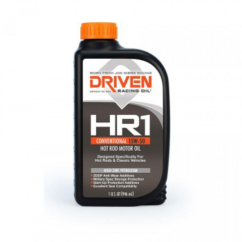 Joe Gibbs DRIVEN HR1 15W-50 High Zinc Petroleum Hot Rod Oil, 12 Quarts