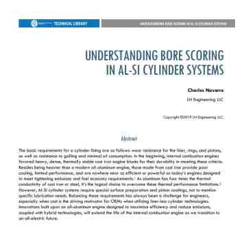 FREE DOWNLOAD: Understanding Bore Scoring in Al-Si Cylinder Systems by Charles Navarro