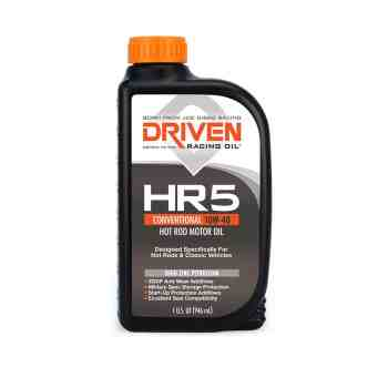 Joe Gibbs Racing Driven HR40 HR5 10W-40 High Zinc Petroleum Hot Rod Oil (Case of 12 Quarts) 03806