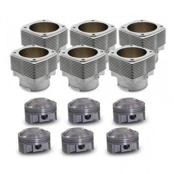Porsche® 911 3.6L to 3.9L 964 / 993 (1989 - 1998) Machine-in Mahle® Cylinder and Piston Set