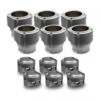 Porsche® 911 2.7L Carb or K-Jet CIS (1973 - 1977)  90mm Nickies™ Cylinder and 10.3:1 Mahle Motorsports® Piston Set
