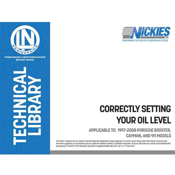 FREE DOWNLOAD: Correctly setting engine oil level (1997-08
