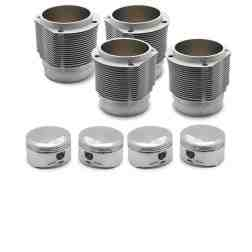 Porsche 356 912 91.5mm Nickies Cylinder and Piston Set inc. 9.5:1 JE Pistons Set (60.5-63.5cc chambers)