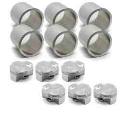 OE Replacement Nickies inc. 100mm 996TT JE Piston set, inc. rings, pins, & clips
