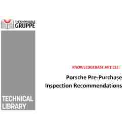 FREE DOWNLOAD: Porsche Pre-Purchase Inspection Reccomendations
