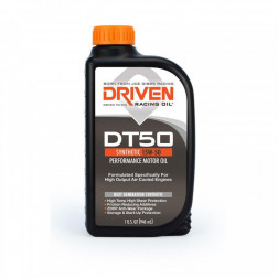Joe Gibbs Racing DRIVEN DT50 02806 Full-Synthetic 15w50 Aircooled Engine Oil, 12 Quarts