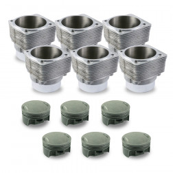 Porsche® 930 TURBO 3.3L to 3.4L (1978 - 1989) Mahle® Cylinder and Piston Set