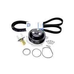 Genuine Porsche 987.2/997.2 Water Pump Kit inc. Gaskets, Belt, Bolts, Stock Thermostat, & Driven CSP