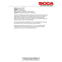SCCA Technical Services TB 05-10a Production Cylinder Liner Clarification