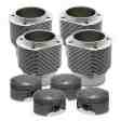 Porsche® 356 912 86mm 1720cc Nickies™ Cylinder and Mahle® Piston Set (Slip-in case register) 60.5-63.5cc