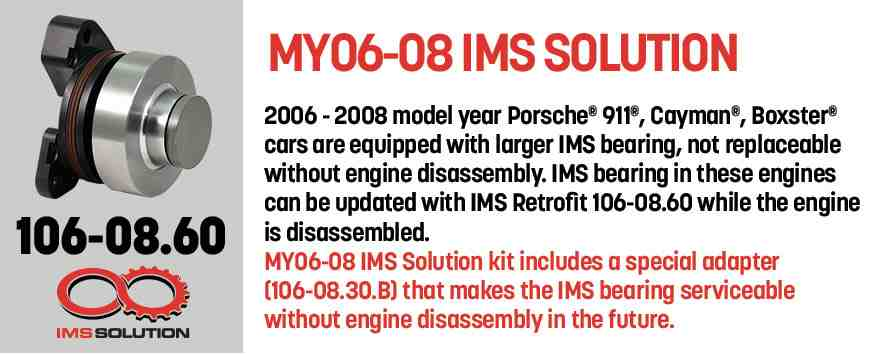 What IMS Solution bearing do I need for a 997 or 987 Boxster or Cayman?